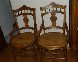 Pair beautiful old chairs