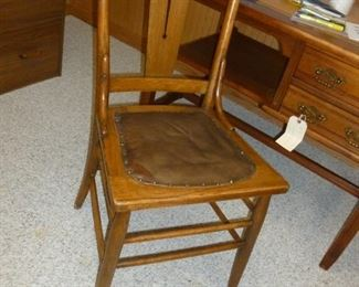 One of 4 matching old chairs