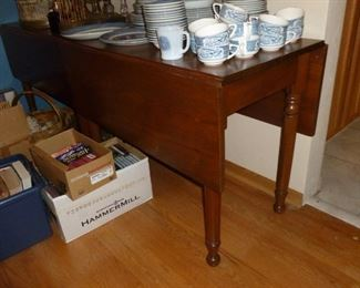 Drop side table (one of a pair)