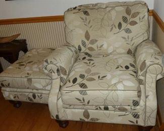 Nice chair w/Ottoman