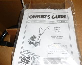 Never removed from the box Tiller