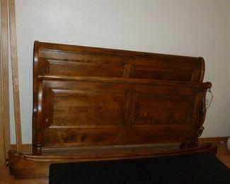 Matching Sleigh Bed headboard & footboard