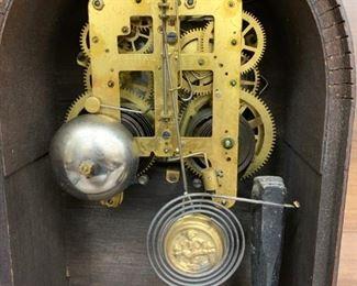 Interior of 19th Century Seth Thomas Mantel Clock