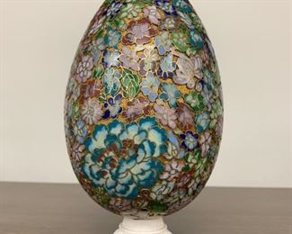 Beautiful Antique Chinese Cloisonné Egg
