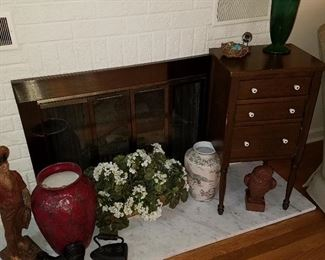 Decorative items, and sewing chest