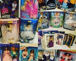 Collectable barbies still in the box