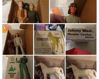 1- 2- 3- 4-Thunderbolt, A Johnny West Horse 5-Johnny West Doll 6-Geronimo The moveable Apache Indian 7-Thunderbolt, A Johnny West Horse 8-Thunderbolt, A Johnny West Horse