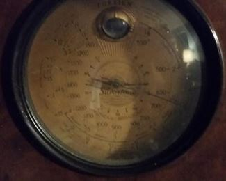 Closeup of radio dial
