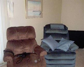 recliner LIFT /  Blue lazy boy