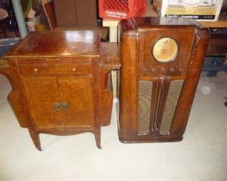 Antique radio / record cabinet