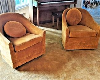 Harvey Probber Swivel Lounge Chairs