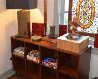 """Wooden """"Cube"""" Console Storage Shelves and Décor Accessories https://ctbids.com/#!/description/share/258878"""