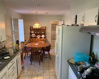 Kitchen items, kitchen table, Buffet, Refrigerator and more
