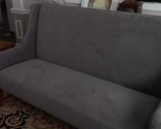 Modern Grey High Back Sofa