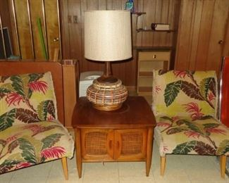 Awesome pair of vintage slipper chairs