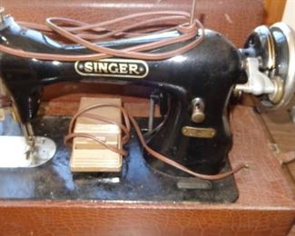 Vintage singer portable sewing machine
