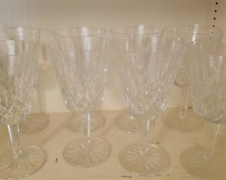 Set of 8 Waterford Lismore wine goblets