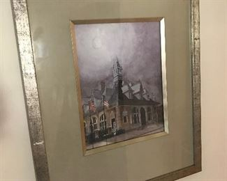 One of only two prints of the Customs House Museum by Clarksville artist Kay Darnell Drew.  Original oil was a Signature painting done for Flying High 2002. Mrs. Drew has one print and she had this one made for her parents.