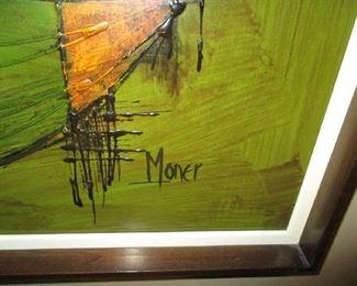 Name on framed artwork