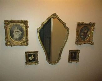 Mirror and wall decorations
