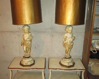 Nightstands and figural table lamps