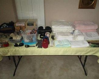 Linens, towels and purses