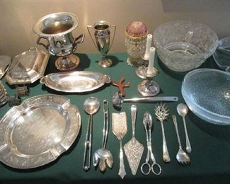 Silver Plate and Sterling items
