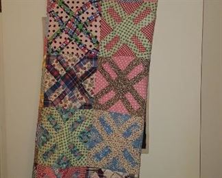 Hand made windmill quilt