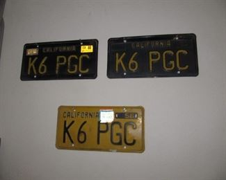 California license plates vintage