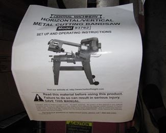 Central Machinery Horizontal/Vertical Metal Cutting Bandsaw
