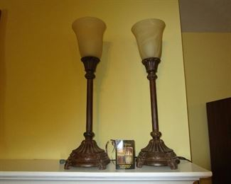 Pair of Dale Tiffany Lamps