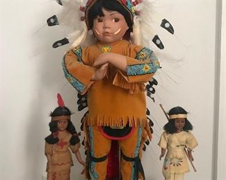 Several of many Indian dolls