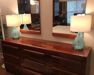 ROSEWOOD DRESSER W/ MIRRORS FROM SCAN DESIGN