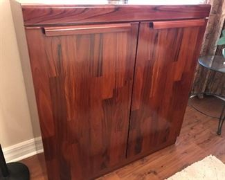 ROSEWOOD ARMOIRE FROM SCAN DESIGN - HAS SECRET PLACE TO HIDE JEWELRY