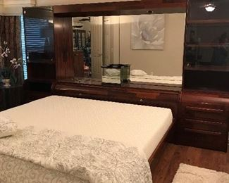 ROSEWOOD 3PC HEADBOARD W/ FRAME FROM SCAN DESIGN