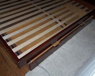 KING BED FRAME COMES WITH 2 LARGE DRAWERS
