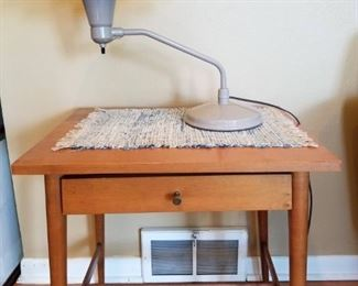 Wheeler Lamp and MCM side table