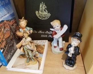 Couple of Hummels and other figurines