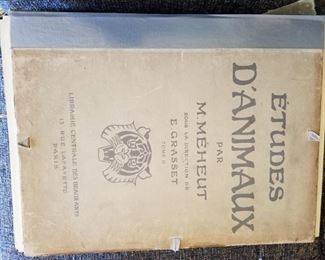 Amazing French volume of animal prints - very rare (two volumes total) D'Animaux