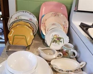 Set of Corelle  dishes and other assortments