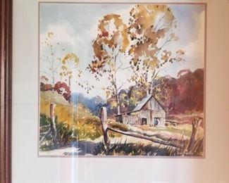 Karl Warren watercolor -- listed artist