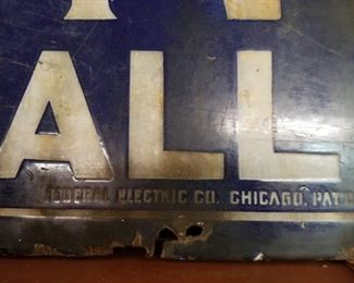 """Federal Electric Company Chicago Sign. Great subject matter - """"Lunch All Night"""""""