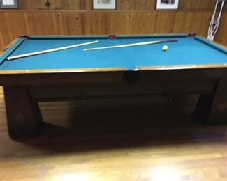 This 1920-1930 Art Deco pool table.  Large!