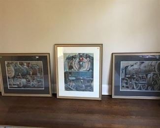 A triplet of pastel trains - beautifully executed