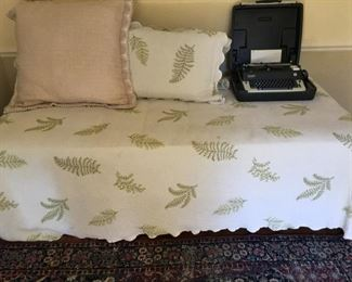 daybed and coverlet