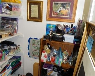 Closet full of arts & Craft supplies & office supplies