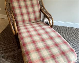WICKER AND RATTAN CHAISE