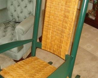 Kennedy rocker  painted green