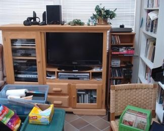 Maple entertainment center.