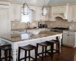 Gorgeous kitchen with island; cabinetry by Kahle's Kitchens